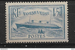 PAQUEBOT NORMANDIE  N° 300  **   NEUF SANS CHARNIERE      COTE  200  GOMME BICOLORE - Unused Stamps