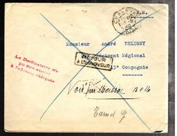 44575 - DESTINATAIRE  NA PU ETRE ATTEINT... - Guerra Del 1939-45