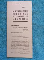 Réunion Madagascar Colonies: Rare Plaquette Dépliante éditée Pour L'exposition De 1931 - Non Classificati