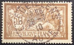 120 ° 1 Aude Escueillens  Merson 50 C Brun Et Gris 26/7/1910 Horaire Oblitéré - 1877-1920: Semi-Moderne
