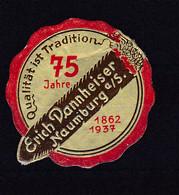 Naumburg Siegelmarke Erich Dannheiser Naumburg A/S. 75 Jahre 1862 1937 - Sin Clasificación
