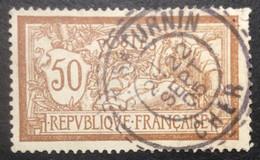 120 ° 3 Cher St Saturnin Tireté Merson 50 C Brun Et Gris 2è 22/9/1905 Oblitéré - 1877-1920: Semi-Moderne