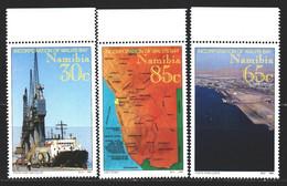 Namibia. 1994. 768-70. Port, Ship, Map Of Namibia. MNH. - Namibia (1990- ...)