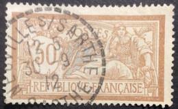120 ° 9 Sarthe Neuville S Sarthe Merson 50 C Brun Et Gris 12 5 30/9/1912 Oblitéré - 1877-1920: Semi-Moderne