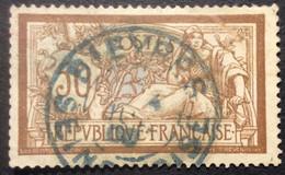 120 ° 10 BLEU Seine Et Oise Bièvres  Merson 50 C Brun Et Gris  Oblitéré - 1877-1920: Semi-Moderne