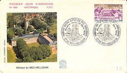 D - [407033]B/TB//-France  - (27) Le Bec-Hellouin, Abbaye Notre-Dame, Eglises Et Cathédrale - Churches & Cathedrals