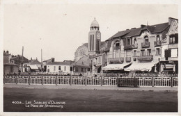CPSM LES SABLES D' OLONNE LA PLACE DE STRASBOURG - Sables D'Olonne