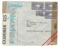 Enveloppe Costa Rica Suisse Contrôle Postal - Central America