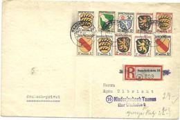 ENVELOPPE DE SARRE 1946 - Colecciones (sin álbumes)