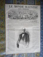 LE MONDE ILLUSTRE 28/12/1867 DUC DE LUYNES CHATEAU DAMPIERRE LONDRES EXPOSITION MAROC LONDRES ROUBAIX DILLIES TISSAGE - 1850 - 1899