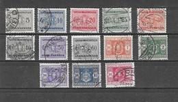 "Italien - Selt./gest. Serie ""Portomarken"" Aus 1934 - Michel 24/36! - Segnatasse"