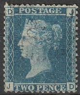 Grande Bretagne 1858-1864 N° 27 Queen Victoria Planche 9 (H5) - Usati