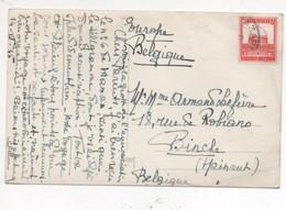 Palestine, N°69A Sur Carte Postale, Cachet De Nazareth - Palestine