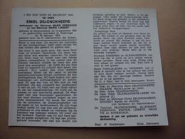 Doodsprentje/bidprentje  EMIEL  DEJONCKHEERE   Westrozebeke °1885 - † 1978 Poperinge - Religion & Esotericism