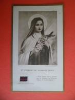 Image Pieuse Relique Reliquaire Sainte Therese De L'Enfant Jesus étoffe Noire - Religion & Esotérisme