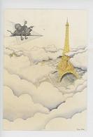 Alex 85 Illustrateur : Souris Tour Eiffel Gruyère.... (Paris, Humour - Cp Vierge) - Humour