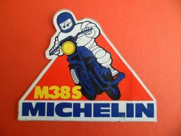 Autocollant - Moto MICHELIN - M38 S - Bibendum - Aufkleber