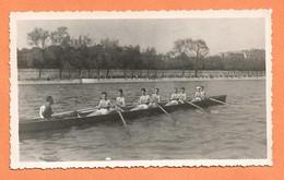 PHOTO 20 AVRIL 1947 - AVIRON - TRAVERSÉE DE PARIS - CLASSEMENT - VOIR TEXTE AU DOS - Sports