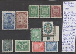 TIMBRES NEUF **MNH/ * /(*)  D ALLEMAGNE (DEUTSCHES REICH)1924 Nr VOIR SUR PAPIER AVEC TIMBRES   COTE        94.90 € - Ohne Zuordnung