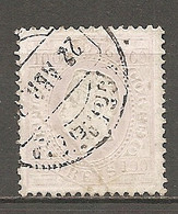 1870- Yv. N° 44b  Dent 12 1/2 Papier Couché (o) 100r Louis Ier Cote  15 Euro  BE R 2 Scans - Used Stamps