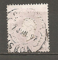 1870- Yv. N° 44b  Dent 13 1/2 Papier Couché (o) 100r Louis Ier Cote  50 Euro  BE R 2 Scans - Used Stamps