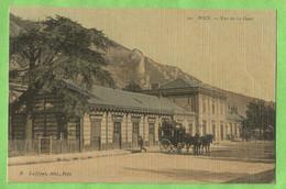ANG031  CPA FOIX  (Ariège)  Vue De La Gare  - Carte Toilée - Foix