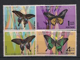 Thailand - 1968 - N°Yv. 498 à 501 - Papillons / Butterflies - Neuf Luxe ** / MNH / Postfrisch - Vlinders