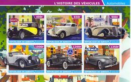 République De Djibouti 2015  -  Bugatti-Packard-Delahaye-Voisin-Mercedes-ZIS  -  6v Bloc Neuf/Mint/MNH - Auto's