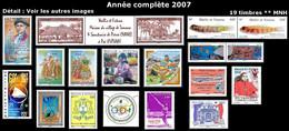 WALLIS ET FUTUNA Année Complète 2007 - Yv. 672 à 690 ** MNH - 19 Timbres  ..Réf.W&F23101 - Full Years