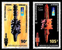 NOUV.-CALEDONIE 2000 - Yv. 823 Et 824 **   Faciale= 1,63 EUR - Têtes De Monnaies (2 Val.)  ..Réf.NCE26491 - Nuovi