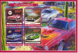 Burkina Faso 2019  -  Corvette-Pontiac-Plymouth-Dodge-Chevrolet  -  4v MS Neuf/Mint/MNH - Autos