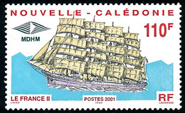 NOUV.-CALEDONIE 2001 - Yv. 839 **   Faciale= 0,92 EUR - Grand Voilier 'France II'  ..Réf.NCE26503 - Nuovi