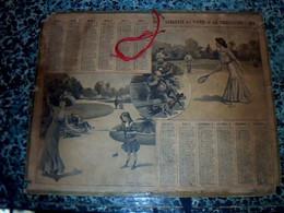 Vieux Papier  Calendrier Almanach  Des Postes Et Télégraphes Année 1913 De L'Aveyron - Big : 1901-20