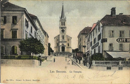 5 Cp SUISSE : Genève Quai Eaux Vives; Les Brenets Temple; Beatenberg;Weissgärber's Hotel Semmering; Hotel Luzern Lugano - Zonder Classificatie