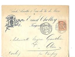 Enveloppe Commerciale 1901 / 70 FOUGEROLLES / E CHOLLEY Distillateur Kirsch Absinthe Eau De Vie / Tampon Postal - 1900 – 1949