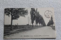 Cpa 1915, Cercottes, Monument 1870 Et Route D'Orléans, Loiret 45 - Autres Communes