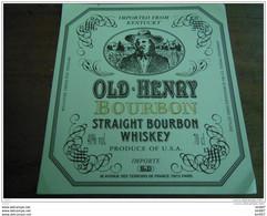 ETIQUETTE WHISKY OLD HENRY - Whisky