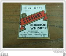 ETIQUETTE WHISKY OUR BEST BOURBON WHISKY - Whisky
