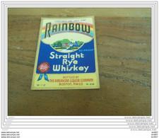 ETIQUETTE WHISKY RAINBOW STRAIGHT RYE WHISKY - Whisky