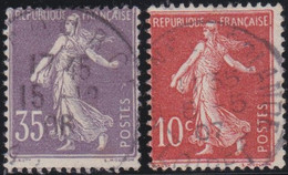 France   .    Yvert    .   135/136       .    O     .    Oblitéré    .   /   .    Cancelled - Usati