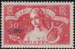 France   .    Yvert    .   329     .    *  .    Neuf Avec Gomme  Et Charnière   .   /   .     Mint-hinged - Unused Stamps