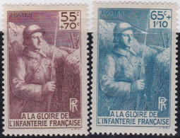 France   .    Yvert    .   386/387      .    *  .    Neuf Avec Gomme  Et Charnière   .   /   .     Mint-hinged - Unused Stamps