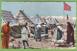 Belle CPSM MARRAKECH Diffa Au Grand Atlas Maroc Animé Format CPA - Marrakech