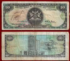 TRINIDAD & TOBAGO BANKNOTE - 10 DOLLARS (1985) P#38b F (NT#01) - Trinidad & Tobago