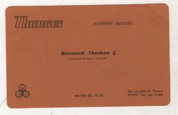 CARTE DE VISITE BERNARD THOMAS PRESIDENT DIRECTEUR GENERAL MATERIEL APICOLE / MIEL / ABEILLES - 45 LOIRET FAY AUX LOGES - Visiting Cards