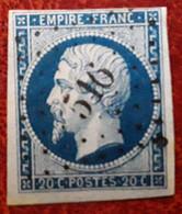 Empire No 14 A  Obl Pc 516 De BRETTEVILLE L' ORGUEILLEUSE,  Calvados ,  Indice 6, Belle Frappe TB - 1853-1860 Napoleone III
