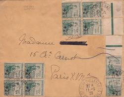23222# ORPHELINS N°163 * 10 INTERGALVANO LETTRE Obl ST SEVER CALVADOS 1929 Pour PARIS - 1921-1960: Modern Tijdperk