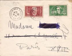 23231# CHOMEURS INTELLECTUELS HECTOR BERLIOZ VICTOR HUGO LETTRE Obl LES CONTAMINES HAUTE SAVOIE 1938 - 1921-1960: Modern Tijdperk