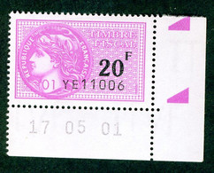 Timbre Fiscal (fiscaux) - Série Fiscale Unifiée (SFU) Neuf N° 506 - Coin Daté Du 17/05/2001 - Fiscale Zegels