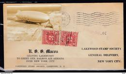 Brief Van Leaving Lakehurst To Greet Gen Balbo's Air Armada Over New York City - 1c. 1918-1940 Briefe U. Dokumente